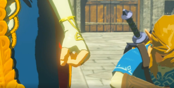 Zelda clenching her fist