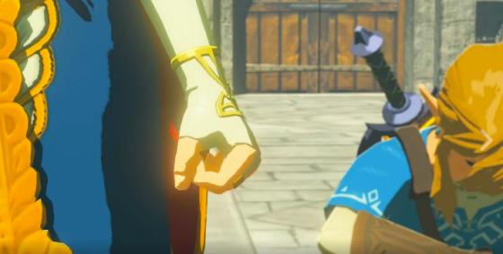 Zelda clenching her fist